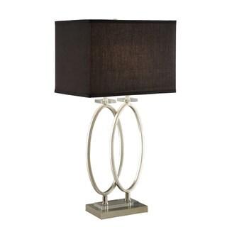 Coaster Company Nickel/Black Oval Table Lamp