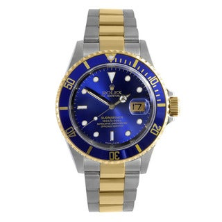 Pre-Owned Rolex Men's Gold Stainless Steel Submariner Sport Model Watch|https://ak1.ostkcdn.com/images/products/12171995/P19023648.jpg?_ostk_perf_=percv&impolicy=medium