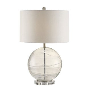 Coaster Company Glass Globe Lamp with Round Off-white Shade