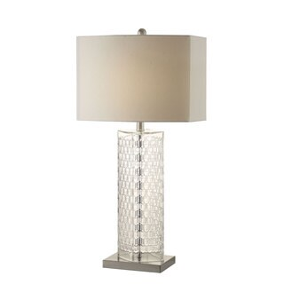 Coaster Company Clear Glass Lamp With Off-white Shade