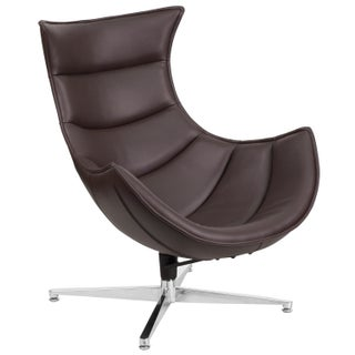 Leather Swivel Cocoon Chair (More options available)