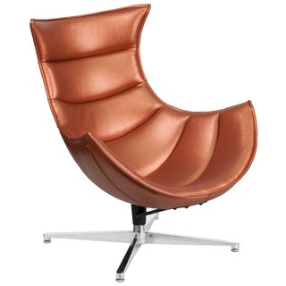 Leather Swivel Cocoon Chair