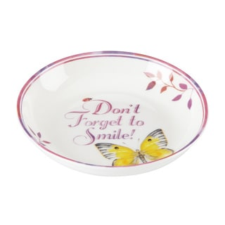 Lenox Butterfly Meadow 'Don't Forget to Smile' Multicolor Porcelain Dish
