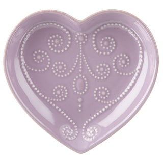 Lenox French Perle Violet Heart Dish
