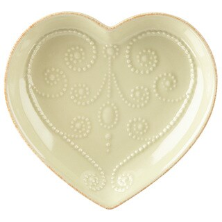 Lenox French Perle Pistachio Everything Green Stoneware Heart Dish