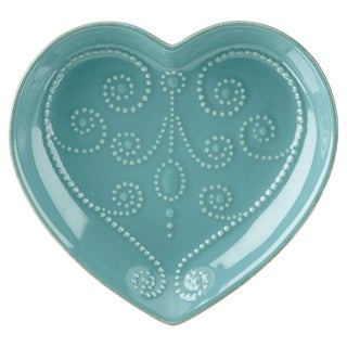 Lenox French Perle Bluebell Everything Heart Dish