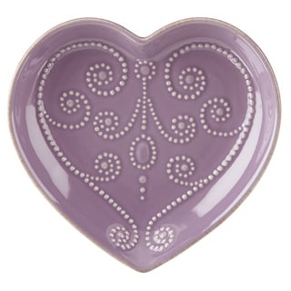 Lenox French Perle Lavender Everything Heart Dish