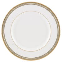 Lenox Jeweled Jardin White/Goldtone Bone China Salad Plate