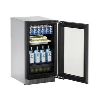 U-Line 3000 Series 3018 18-inch Stainless Steel Framed Glass Door Refrigerator