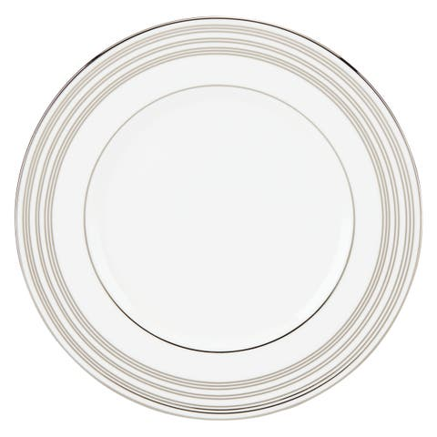 Lenox Federal Platinum Silver/White China 9-inch Accent Plate