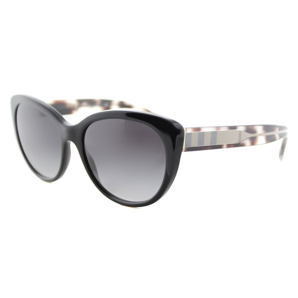 eebd12d55ff6 Burberry BE 4224 30018G Black Grey Gradient Lens Cat-Eye Sunglasses