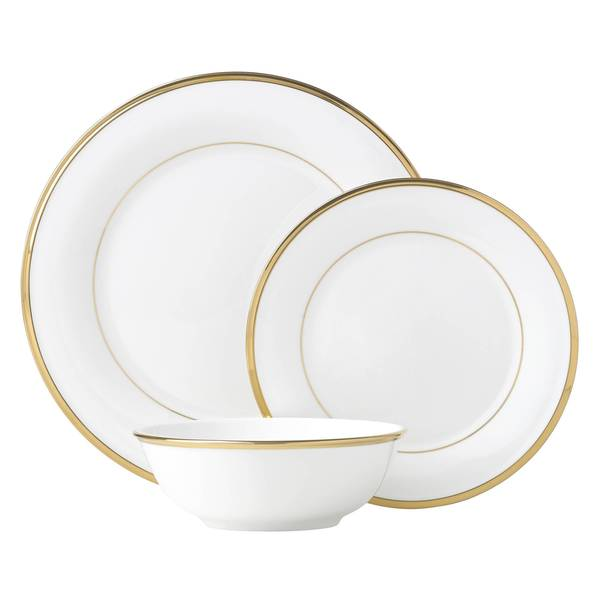 Lenox Eternal White China 3 Piece Place Setting Overstock 12172091