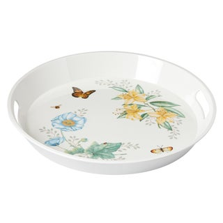 Lenox Butterfly Meadow Multicolor Melamine Large Round Tray