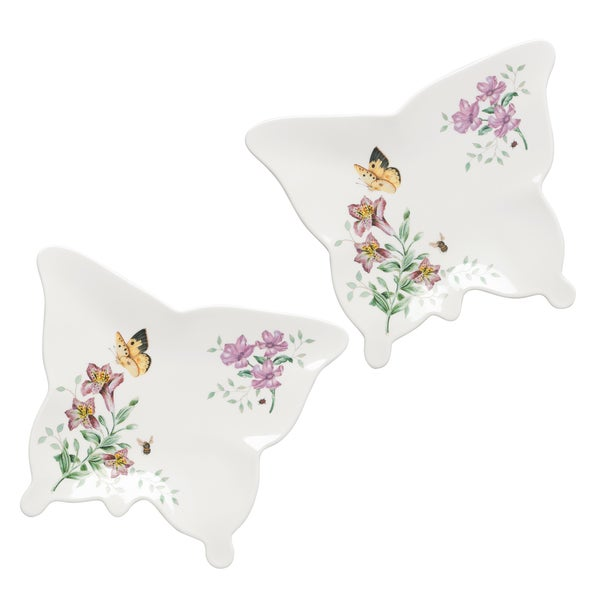 Lenox Butterfly Meadow Melamine Small Butterfly Trays (Set of 2)
