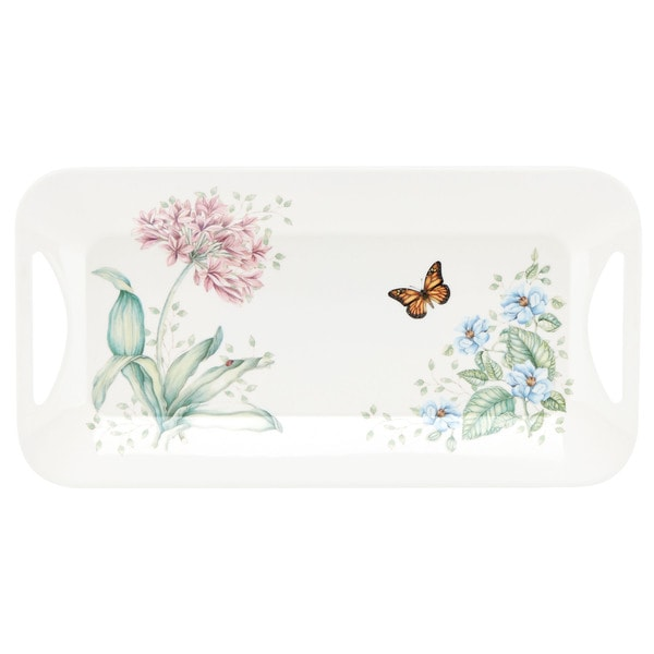 Shop Lenox Butterfly Meadow Melamine Hors D Oeuvres Tray
