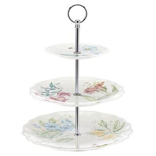 Lenox Butterfly Meadow Melamine 3-tiered Server