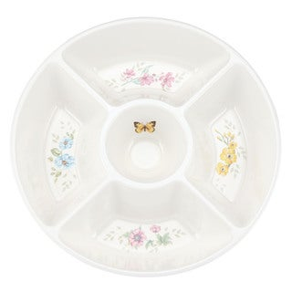 Shop Lenox Butterfly Meadow Melamine 5 Part Serving Dish