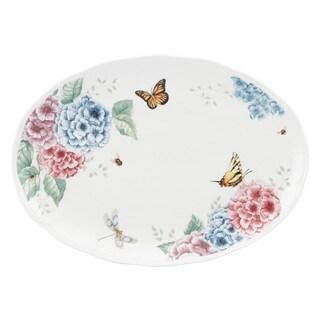 Lenox Butterfly Hydrangea Multicolor Porcelain 16-inch Oval Platter