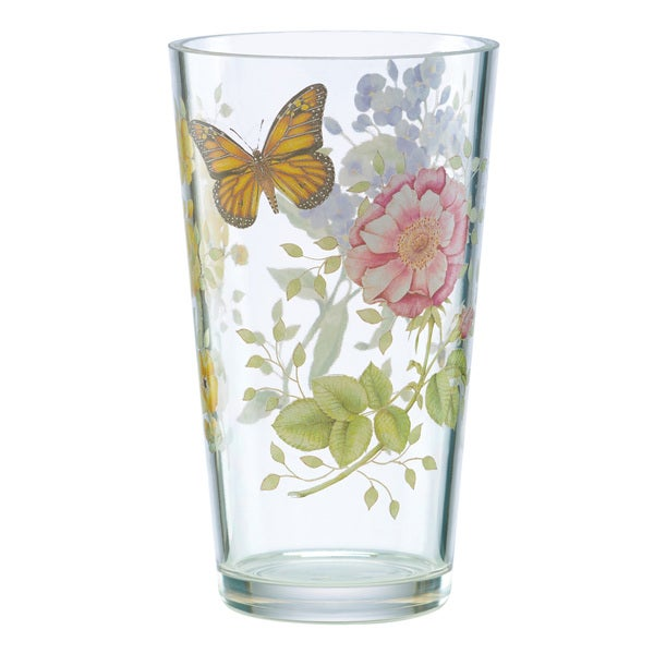Shop Lenox Butterfly Meadow Acrylic Hiball Glass Free