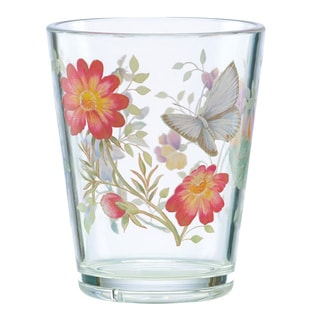 Lenox Butterfly Meadow Multicolor Plastic/Acrylic Double Old Fashion Glass