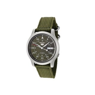 Seiko Men's '5' Automatic Green Canvas Watch
