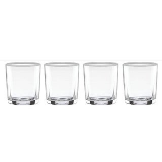 Dansk The Burbs Lily White Double Old Fashioned Glasses (Pack of 4)