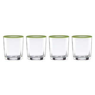 Dansk Burbs Grass Green Double Old-fashioned Glasses (Pack of 4)