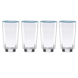 Dansk The Burbs Blue Highball Glasses (Pack of 4)