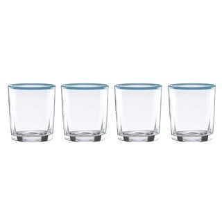 Dansk The Burbs Blue Double Old Fashion Glasses (Pack of 4)