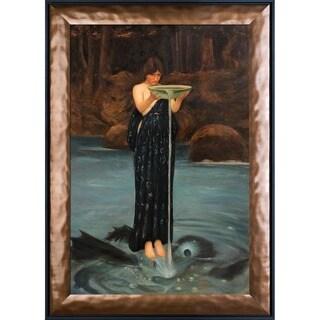 John William Waterhouse 'Circe Invidiosa, 1892' Hand Painted Framed Canvas Art