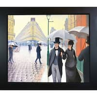 Gustave Caillebotte 'A Paris Street, Rainy Day' Hand Painted Framed Canvas Art