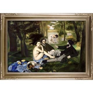 Edouard Manet 'Luncheon on the Grass, 1863' Hand Painted Framed Canvas Art