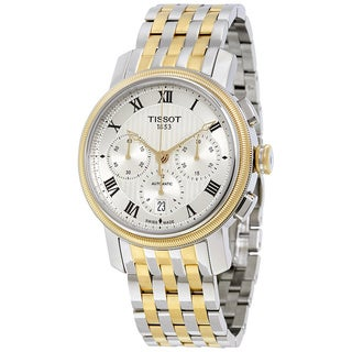 Tissot Men's T0974272203300 'Bridgeport' Chronograph Automatic Two-Tone Stainless Steel Watch