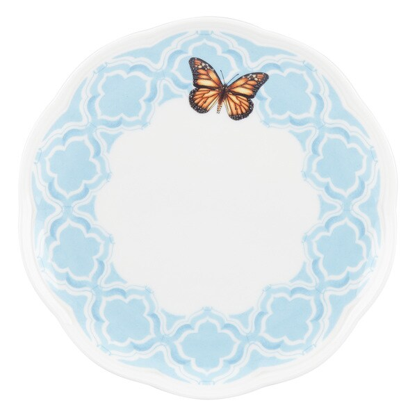 Shop Lenox Butterfly Meadow Trellis Blue Accent Plate