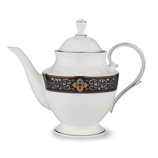 Lenox Vintage China/24k Gold/Platinum Jewel Teapot With Lid