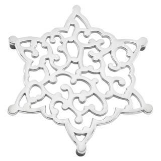 Lenox Silvertone Aluminum Alloy Snowflake Trivet