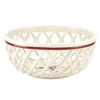 Lenox Winter Greetings Dishwasher Safe Open Weave Bread Basket