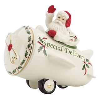 Lenox Countdown 'til Christmas Green Porcelain Cookie Jar