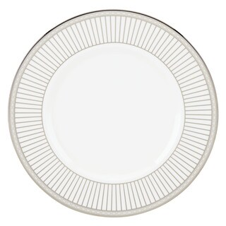 Lenox Murray Hill White/Silver Bone China 9-inch Accent Plate