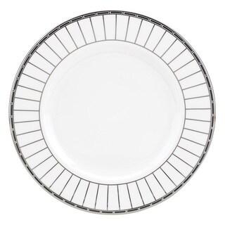 Lenox White/Silver China Platinum Onyx Salad Plate