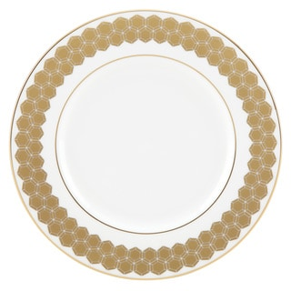 Lenox Prismatic White Bone China 9-inch Accent Plate with Gold Trim