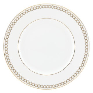 Lenox Prismatic Gold/White China Dinner Plate