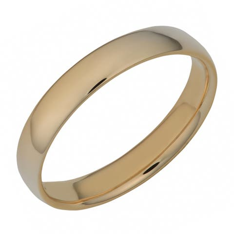 Fremada 14k Yellow Gold High Polish 4-mm Comfort Fit Wedding Band