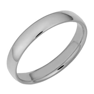 Fremada 14k White Gold High Polish 4-mm Comfort Fit Wedding Band
