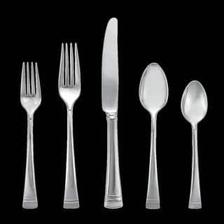 Lenox Federal Platinum Silver Stainless Steel Flatware 5-piece Place Set|https://ak1.ostkcdn.com/images/products/12172315/P19023938.jpg?impolicy=medium