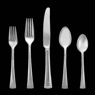 Lenox Federal Platinum Silver Stainless Steel Flatware 5-piece Place Set