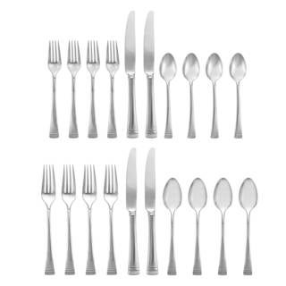 Lenox Federal Platinum Silver Stainless Steel 5-piece Flatware Place Setting (Service for 4)