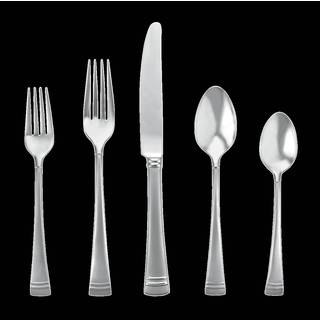 Lenox Federal Platinum Stainless Steel Frosted 5-piece Flatware Place Setting