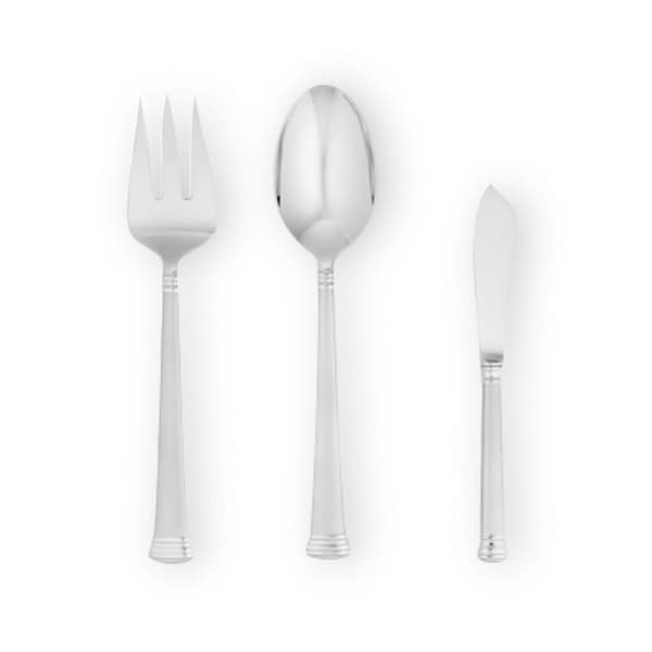 Lenox Eternal Frosted Stainless Steel Flatware 3 Piece Serving Set