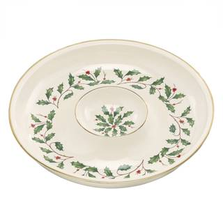 Lenox Holiday Chip and Dip Serving Set